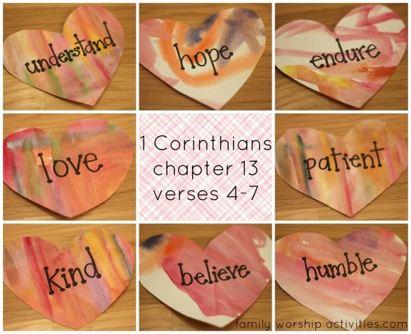 corinthians heart words collage