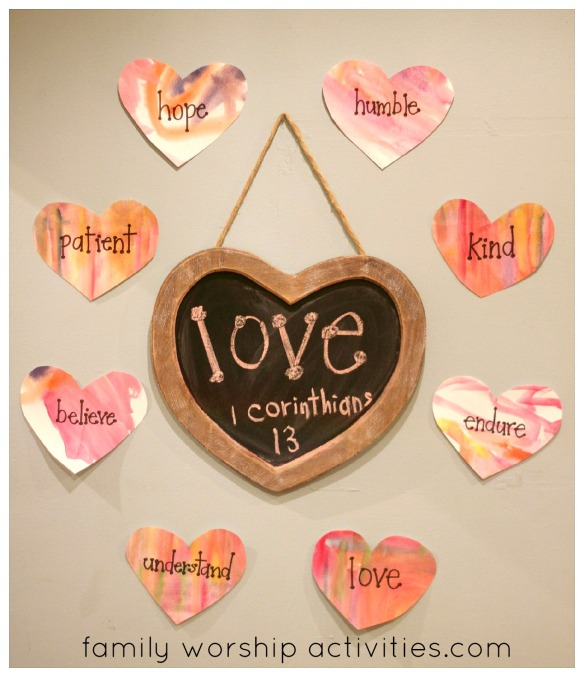 heart words around chalkboard